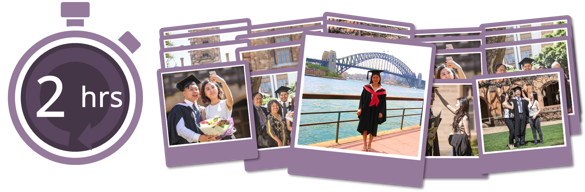 Book graduation photography at Monash University - Deluxe Package, $149