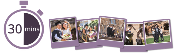 Book graduation photography at University of Melbourne - Economy Package, $59